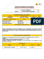 NOTIFICACION OCURRENCIA DE INCIDENTES 2009