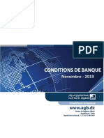 Conditions tarifaires banque Gulf Bank Algeria (AGB) - Nkheyar