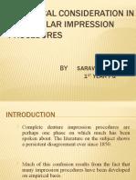 Biological Consideration in Mandibular Impression Procedures