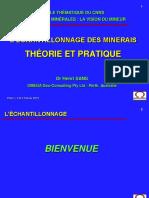 Lechantillonnage des minerais  Theorie et Pratique