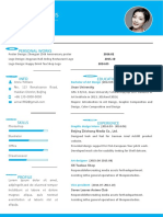 Fresh Blue Personal Resume-WPS Office
