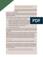 CURRICULO NACIONAL DE EDUCACIÓN