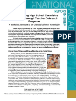 Strengthening High School Chemistry Education, Report in Brief