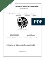 ensayo de la ley de Hooke