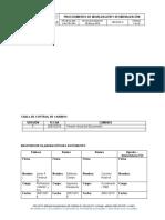 PROBYM-MIR-CAL-PRC-001 Procedimiento de Movilizacion y Desmovilizacion