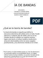 TEORÍA DE BANDAS