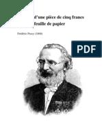 Frédéric Passy - Histoire d'une Pièce de cinq francs et d'une Feuille de papier