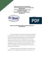 analisis de contenido sobre la metodologia de la investigacion.docx