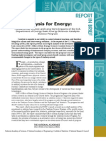 Catalysis for Energy, Report in Brief