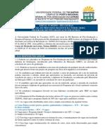 Edital nº 60- 2019 - PPG-Letras - Abertura Seleção Mestrado 2020_2 - Retificado
