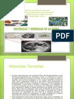 Materiales y minerales de la tierra para ciencias de la tierra
