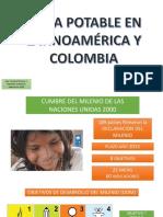 Agua potable en Latinoamérica y Colombia