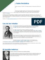 1 A - evolucion de la tabla periodica - archivo de información