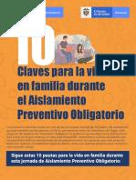 10 claves para la vida en familia durante el Aislamiento Preventivo Obligatorio