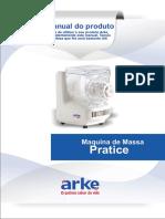 Pratice. Manual do produto. Maquina de Massa
