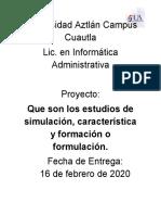 estudios de simulacion
