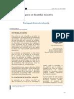 El impacto de la calidad educativa - Hugo Bodero