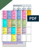 Assignment schedule-