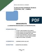 TRABAJO APLICATIVO DE  ADMINISTRACION TUMBES 5 DACA