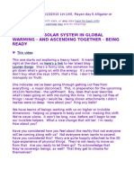LIVE - Whole Solar System in Global Warming - & Ascending — Being Ready