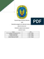 Proposal Progam Kreativitas Mahasiswa (PKM)