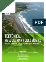 Tectónica, nivel del mar y ciclo sísmico en Playa Junquillal y el Pacífico norte costarricense.