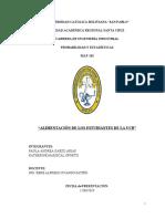 ALIMENTACIÓN DE LOS ESTUDIANTES DE LA UCB - ESTADISTICAS