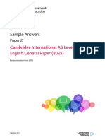 AS Level English General Paper Sample Answers