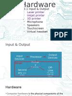 3.1 Hardware IO printers