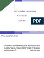 Pengantar Ekonometrika Terapan