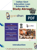 Indian Govt Education Loan Schemes for Study Abroad
