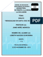 Ensayo Centro de Salud Santa Cruz