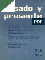 Pasado y Presente, Primera Época, Nº 7-8, 1965