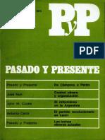Pasado y Presente, Segunda Época, Nº 2-3, 1973