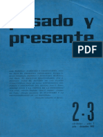 Pasado y Presente, Primera Época, Nº 2-3, 1963