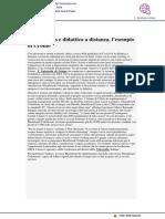 Coronoavirus e didattica a distanza, l'esempio di Urbino - Fortune Italia.com, 26 marzo 2020