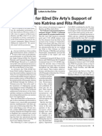 High Praise for 82nd Div Arty's Support of Hurricanes Katrina and Rita Relief