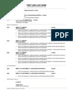 1 page CV template Jan 2018