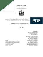 Bills Sent to Labor Committee 2009