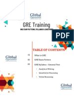 GRE TRAINING - GRE EXAM PATTERN, SYLLABUS & QUESTIONS