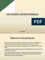 Conversion photovoltaique