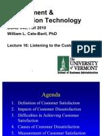 FA10 040 Lecture 16 Customers Voice