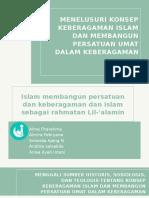 Menggali Sumber Historis, Sosiologis, dan Teologis tentang Konsep Keberagaman Islam dan Membangun Persatuan umat dalam Keberagaman