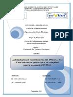 Automatisation et supervision via TIA PORTAL V 13 d'une centrale de production d'air comprimé pour le process de CEVITAL