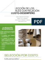 SELECCIÓN DE LOS MATERIALES CON RELACIÓN COSTO-DESEMPEÑO