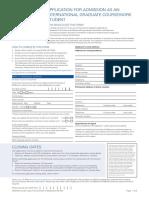 MLM International Admission Application Form