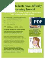 French Pronunciation Workshop