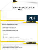 Session 1.12 Instance Member Variable