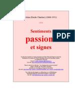 8355872 Emile Chartier Alain Sentiments Passions Signes