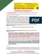 20200327-PRESS RELEASE Mr G. H. Schorel-Hlavka O.W.B. ISSUE – Re Unconstitutional Coronavirus Army Deployment in States, Etc